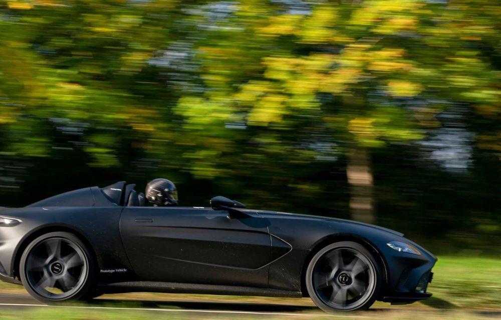 Aston Martin începe testele dinamice cu V12 Speedster: ediție specială cu 88 de unități și preț de pornire de peste 840.000 de euro - Poza 4