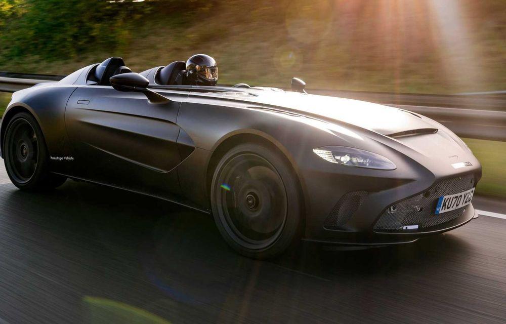 Aston Martin începe testele dinamice cu V12 Speedster: ediție specială cu 88 de unități și preț de pornire de peste 840.000 de euro - Poza 2