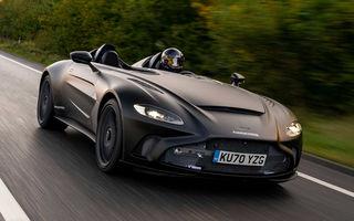 Aston Martin începe testele dinamice cu V12 Speedster: ediție specială cu 88 de unități și preț de pornire de peste 840.000 de euro