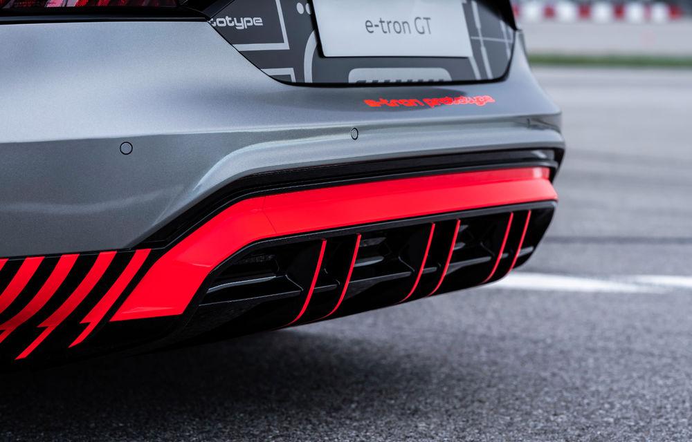 Audi publică teasere cu versiunea de serie a lui e-tron GT: sportiva electrică va avea autonomie de 400 de kilometri - Poza 52