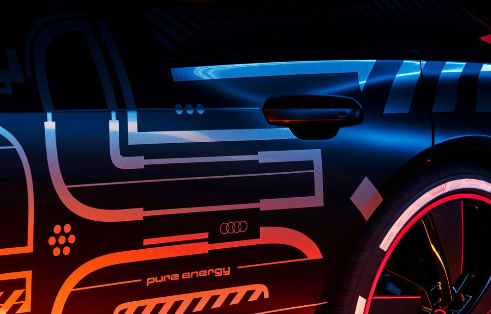 Audi publică teasere cu versiunea de serie a lui e-tron GT: sportiva electrică va avea autonomie de 400 de kilometri - Poza 3