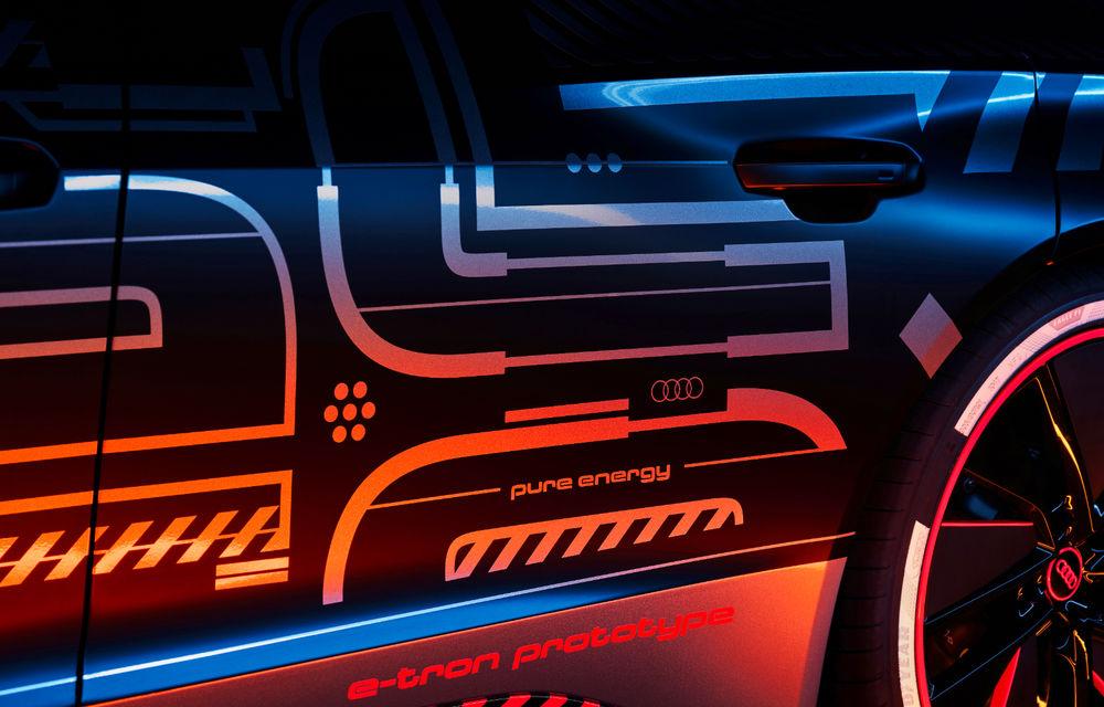 Audi publică teasere cu versiunea de serie a lui e-tron GT: sportiva electrică va avea autonomie de 400 de kilometri - Poza 2