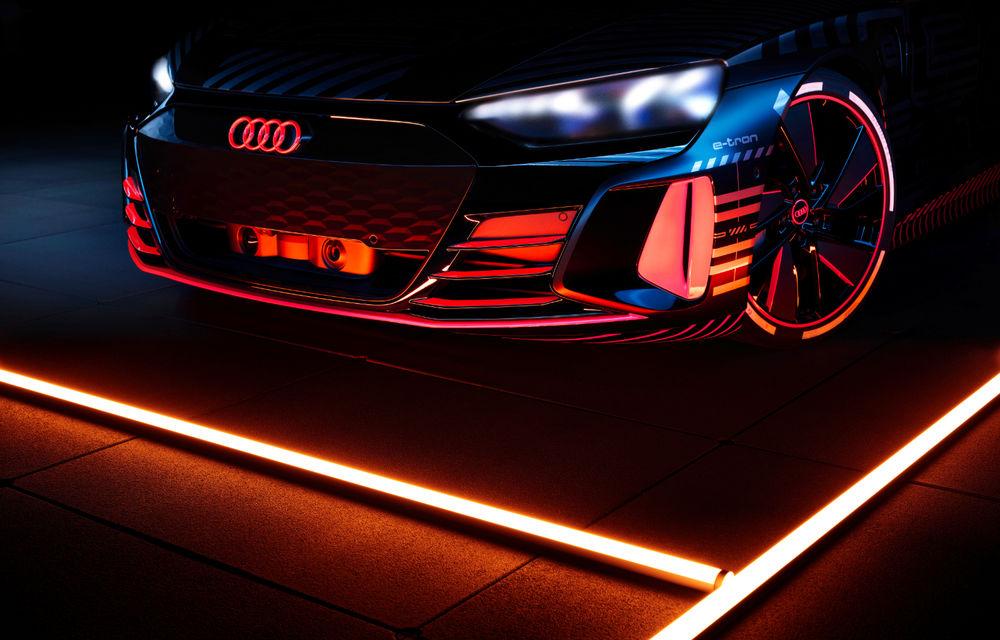 Audi publică teasere cu versiunea de serie a lui e-tron GT: sportiva electrică va avea autonomie de 400 de kilometri - Poza 9