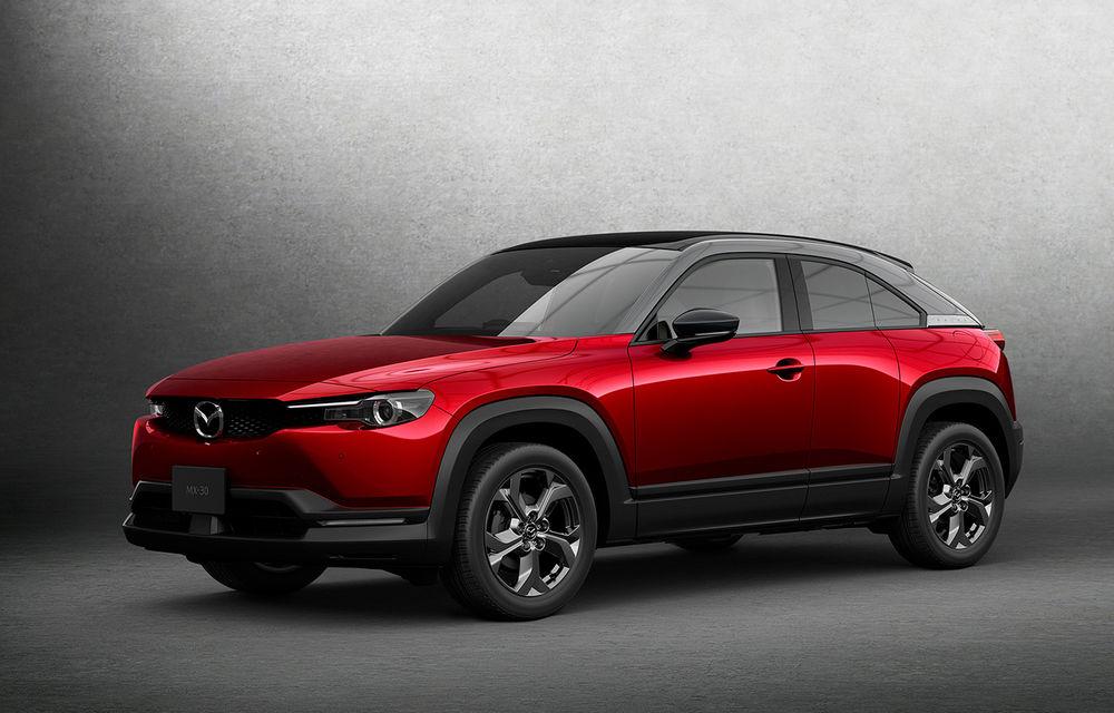 Noutăți pentru Mazda MX-30: versiune cu motor pe benzină pentru piața din Japonia și, din 2022, variantă electrică cu range extender - Poza 1