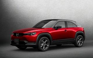 Noutăți pentru Mazda MX-30: versiune cu motor pe benzină pentru piața din Japonia și, din 2022, variantă electrică cu range extender