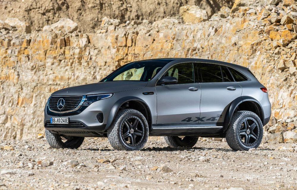 Mercedes-Benz prezintă proiectul EQC 4x4²: SUV-ul electric a fost transformat într-un vehicul de off-road - Poza 2