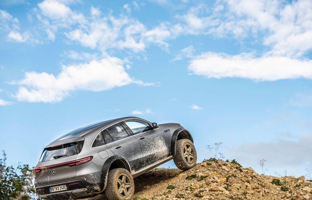 Mercedes-Benz prezintă proiectul EQC 4x4²: SUV-ul electric a fost transformat într-un vehicul de off-road - Poza 21