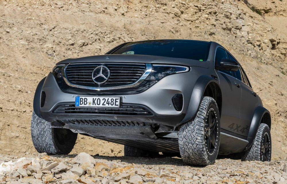 Mercedes-Benz prezintă proiectul EQC 4x4²: SUV-ul electric a fost transformat într-un vehicul de off-road - Poza 6