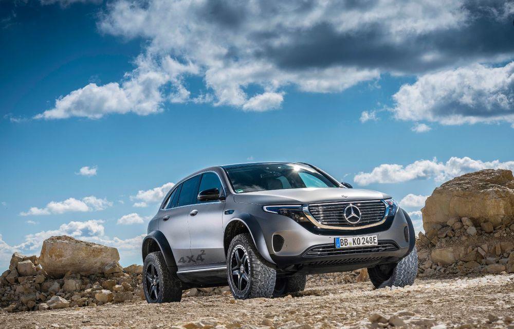 Mercedes-Benz prezintă proiectul EQC 4x4²: SUV-ul electric a fost transformat într-un vehicul de off-road - Poza 9
