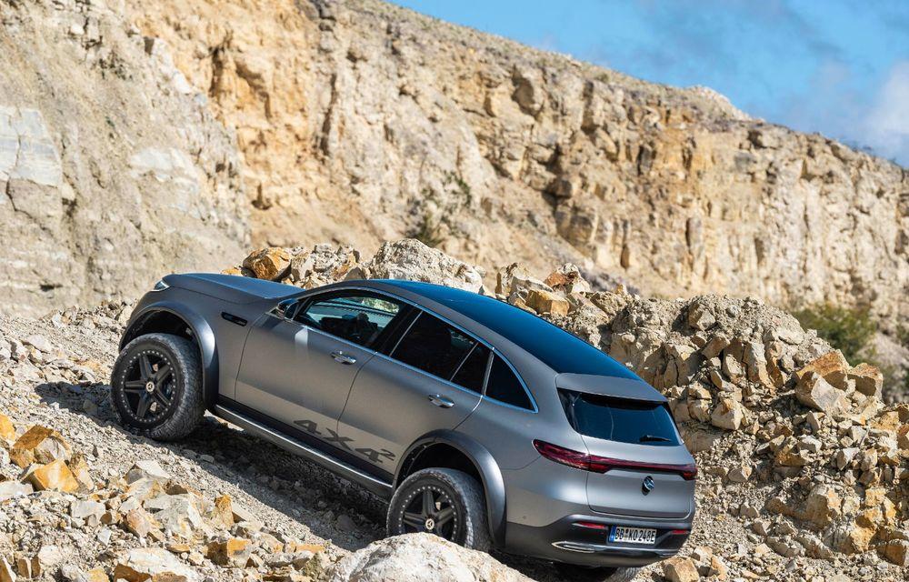 Mercedes-Benz prezintă proiectul EQC 4x4²: SUV-ul electric a fost transformat într-un vehicul de off-road - Poza 3