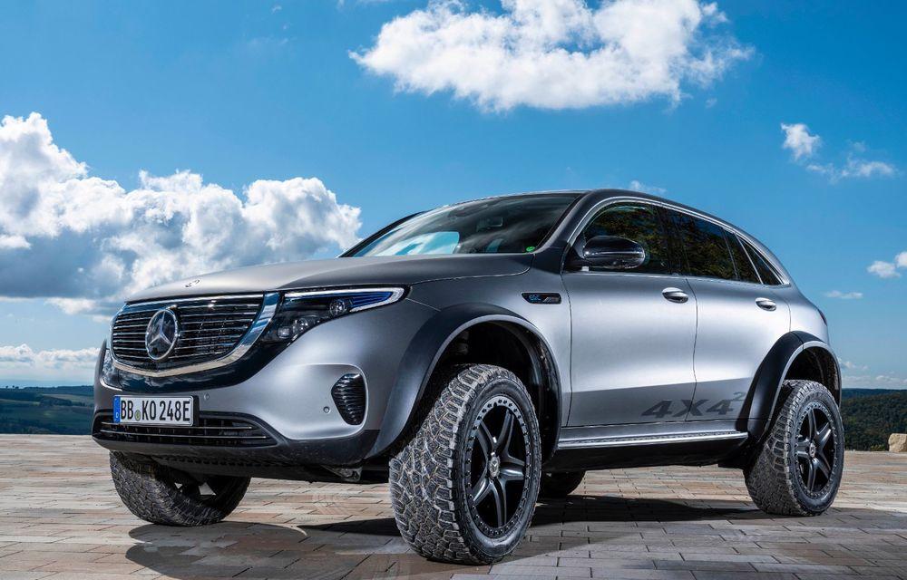 Mercedes-Benz prezintă proiectul EQC 4x4²: SUV-ul electric a fost transformat într-un vehicul de off-road - Poza 22