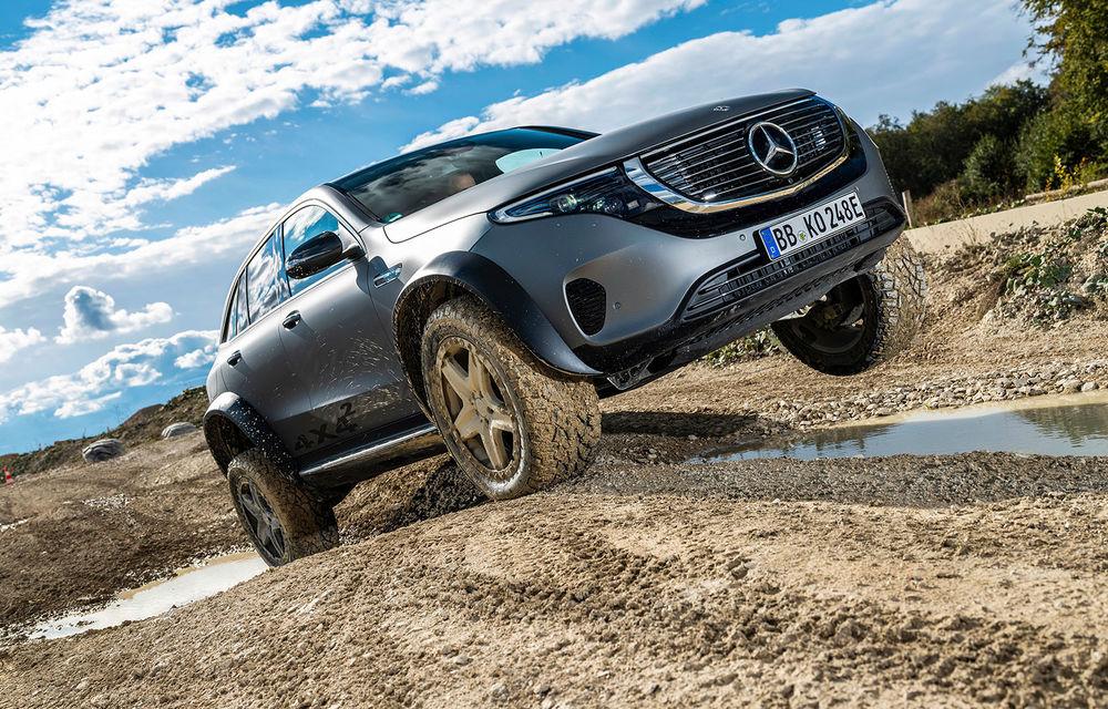 Mercedes-Benz prezintă proiectul EQC 4x4²: SUV-ul electric a fost transformat într-un vehicul de off-road - Poza 1