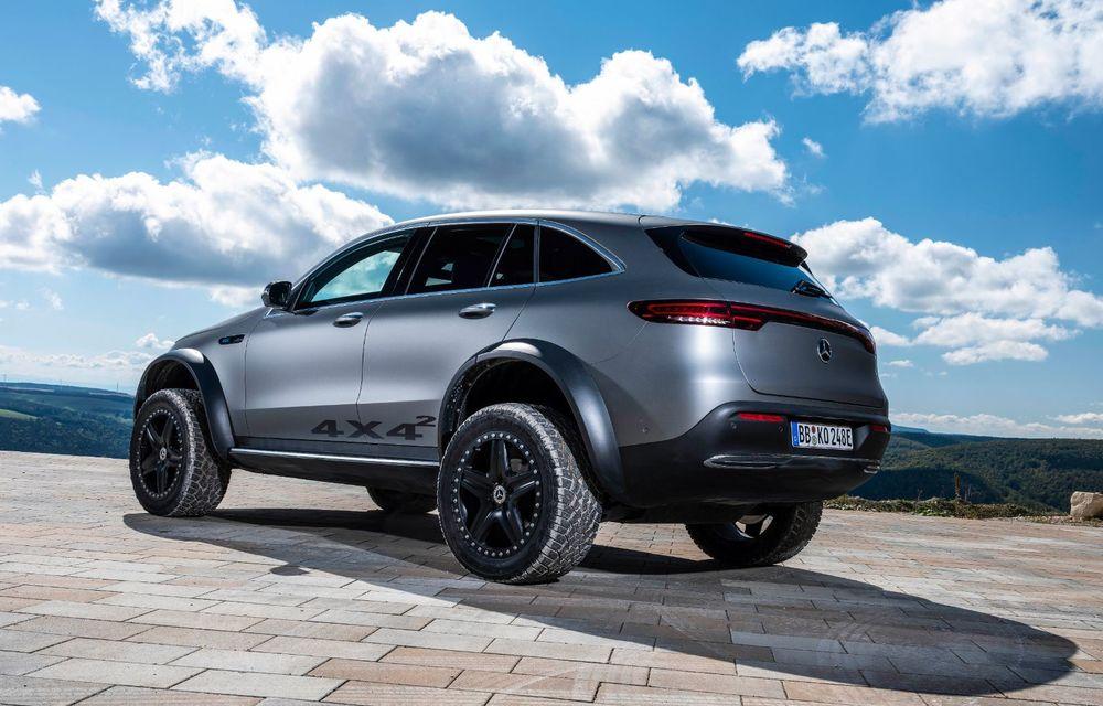 Mercedes-Benz prezintă proiectul EQC 4x4²: SUV-ul electric a fost transformat într-un vehicul de off-road - Poza 25