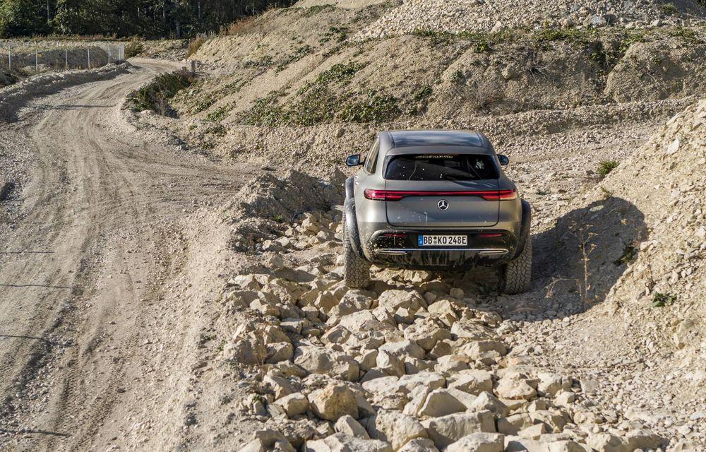 Mercedes-Benz prezintă proiectul EQC 4x4²: SUV-ul electric a fost transformat într-un vehicul de off-road - Poza 16