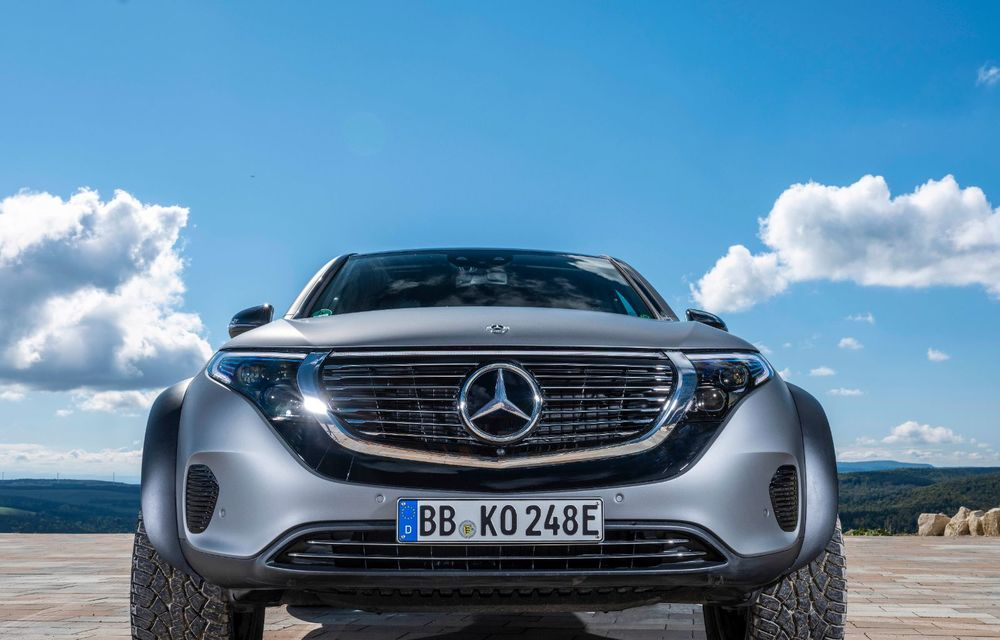 Mercedes-Benz prezintă proiectul EQC 4x4²: SUV-ul electric a fost transformat într-un vehicul de off-road - Poza 23