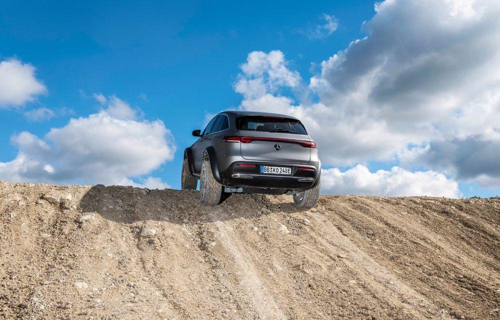 Mercedes-Benz prezintă proiectul EQC 4x4²: SUV-ul electric a fost transformat într-un vehicul de off-road - Poza 13