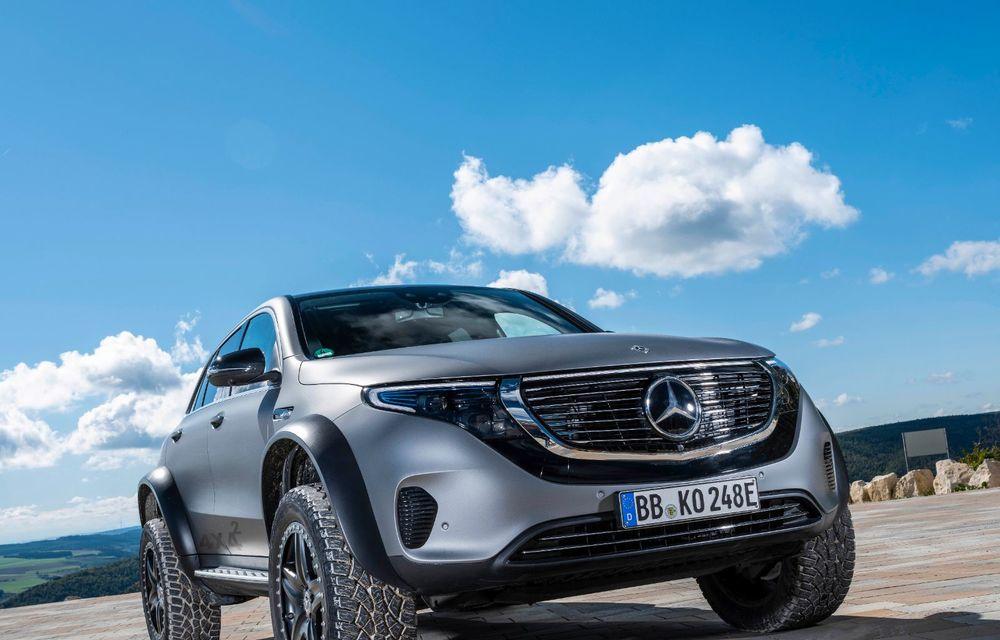 Mercedes-Benz prezintă proiectul EQC 4x4²: SUV-ul electric a fost transformat într-un vehicul de off-road - Poza 24