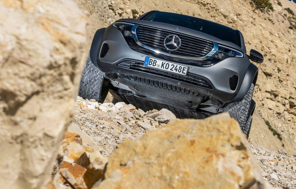 Mercedes-Benz prezintă proiectul EQC 4x4²: SUV-ul electric a fost transformat într-un vehicul de off-road - Poza 5
