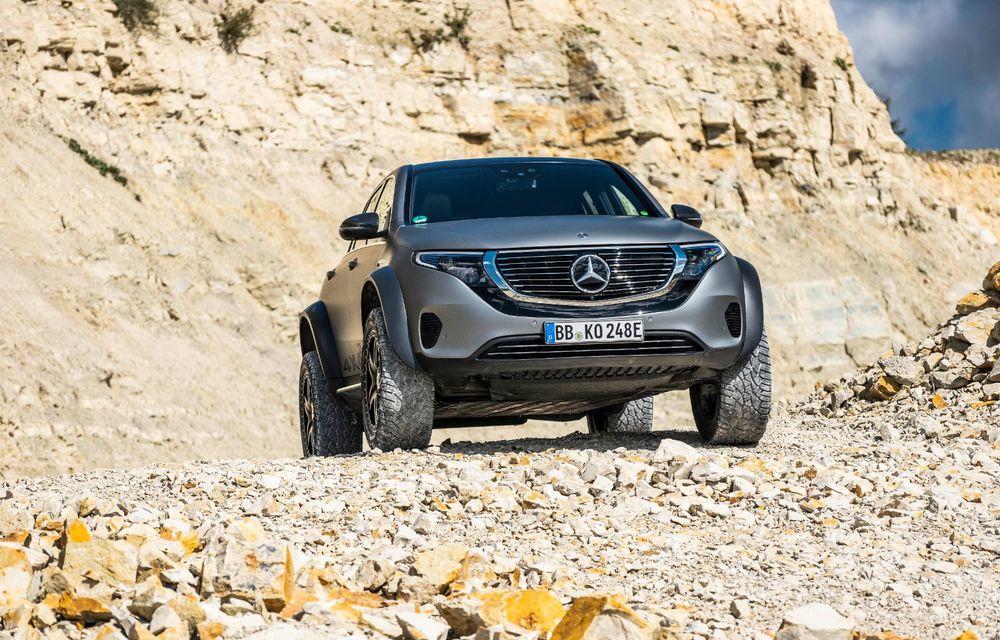 Mercedes-Benz prezintă proiectul EQC 4x4²: SUV-ul electric a fost transformat într-un vehicul de off-road - Poza 4
