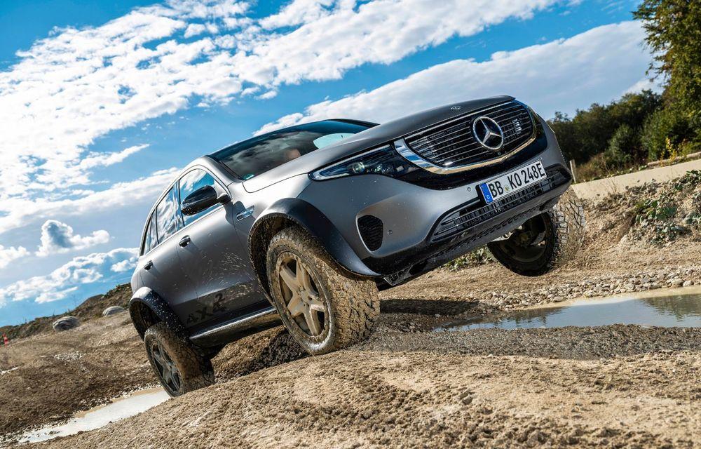 Mercedes-Benz prezintă proiectul EQC 4x4²: SUV-ul electric a fost transformat într-un vehicul de off-road - Poza 18