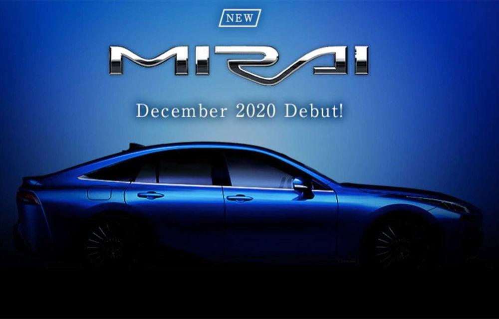 Viitoarea generație Toyota Mirai va fi prezentată în decembrie: modelul cu pile de combustie pe bază de hidrogen va avea roți motrice spate și autonomie mai mare - Poza 1
