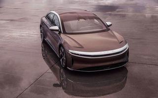 Sedanul electric Lucid Air, disponibil într-o versiune mai accesibilă cu autonomie de 650 de kilometri: Tesla reacționează și reduce prețul lui Model S