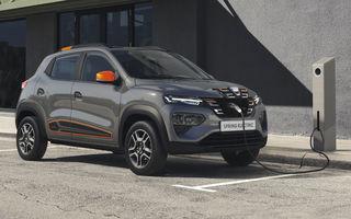 Dacia Spring, informații și imagini oficiale: prima Dacia electrică are autonomie urbană de aproape 300 de kilometri și se încarcă în mai puțin de o oră