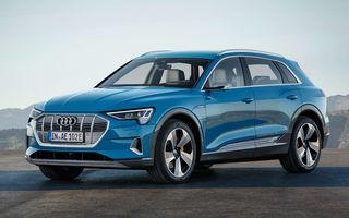 Video. Audi îmbunătățește farurile Digital Matrix LED pentru e-tron: SUV-ul electric proiectează animații luminoase