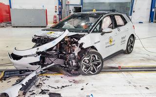"""Volkswagen ID.3 a obținut 5 stele la testele Euro NCAP: """"Hatchback-ul electric nu face compromisuri la siguranță"""""""