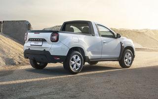 Dacia Duster Pick-Up: noua versiune derivată din Duster are 115 cai putere, sarcină utilă de 500 de kilograme și costă 22.500 de euro