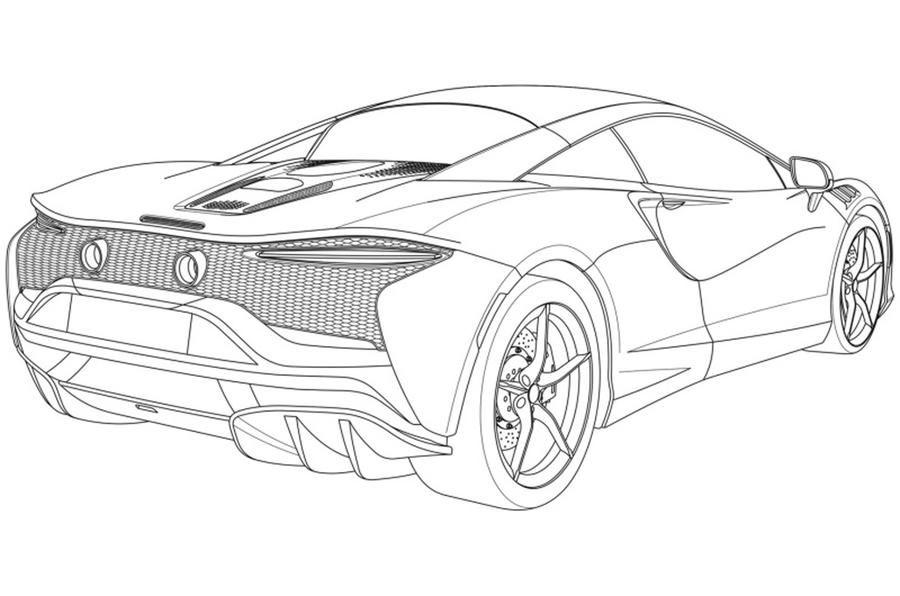 Primele schițe cu noul supercar hibrid de la McLaren: modelul va fi prezentat în 2021 - Poza 3
