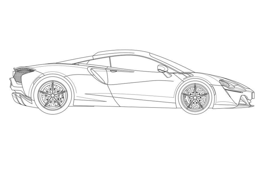 Primele schițe cu noul supercar hibrid de la McLaren: modelul va fi prezentat în 2021 - Poza 7