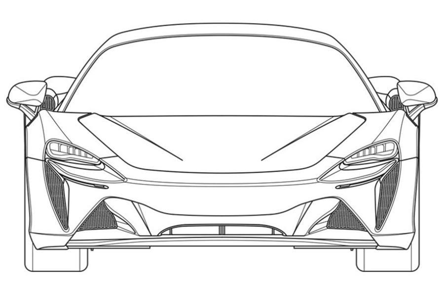 Primele schițe cu noul supercar hibrid de la McLaren: modelul va fi prezentat în 2021 - Poza 6