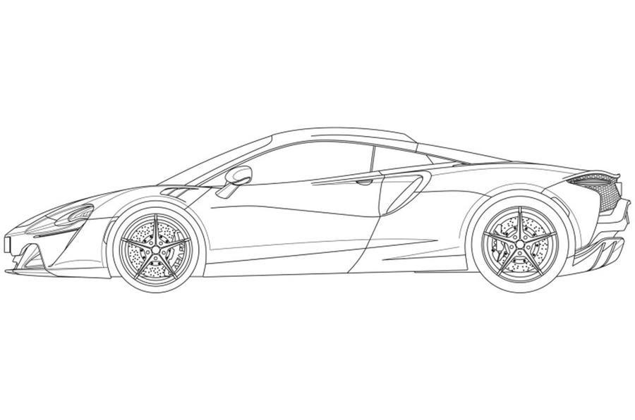 Primele schițe cu noul supercar hibrid de la McLaren: modelul va fi prezentat în 2021 - Poza 2