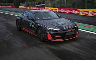 Imagini noi cu prototipul Audi RS e-tron GT: modelul electric de performanță ar putea avea 700 de cai putere
