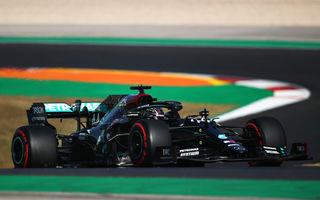 Hamilton, pole position în Portugalia în fața lui Bottas! Verstappen și Leclerc ocupă a doua linie a grilei de start