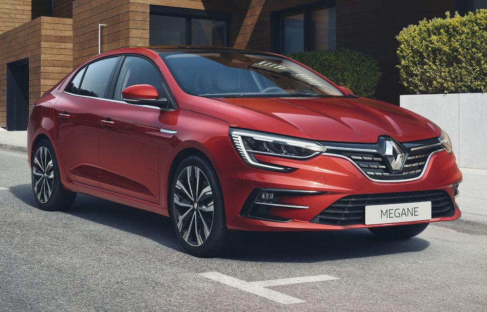 Imagini și informații tehnice cu Renault Megane Sedan facelift: interior îmbunătățit, motorizări diesel și pe benzină și sisteme de asistență - Poza 1