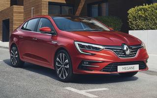 Imagini și informații tehnice cu Renault Megane Sedan facelift: interior îmbunătățit, motorizări diesel și pe benzină și sisteme de asistență