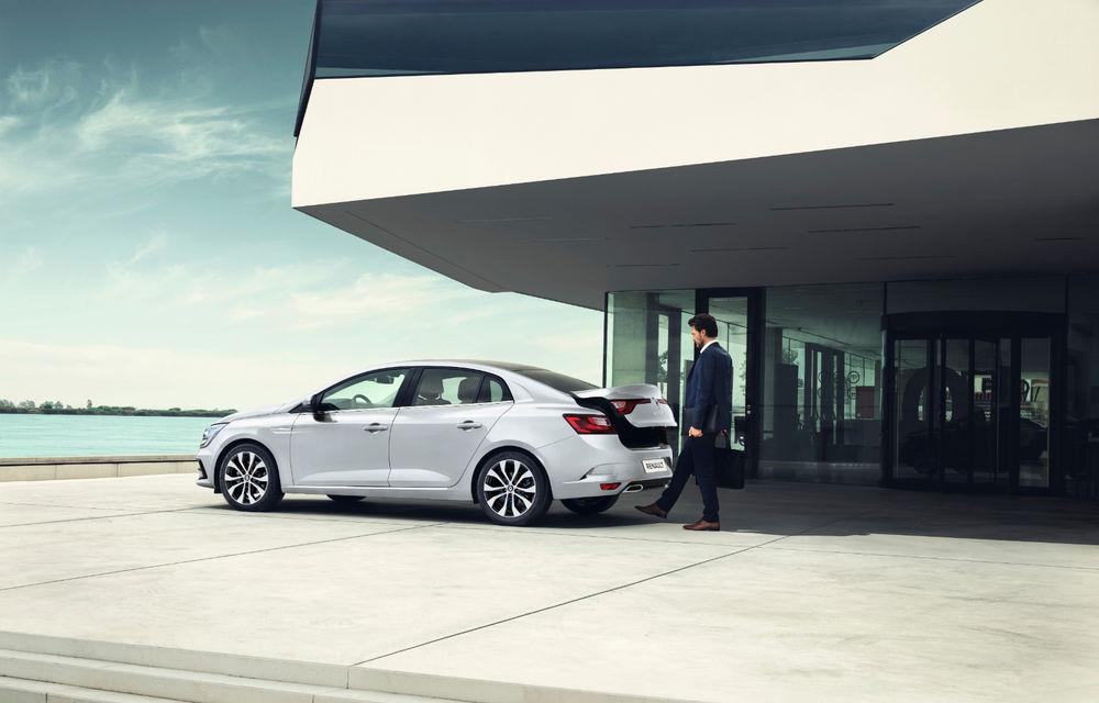 Imagini și informații tehnice cu Renault Megane Sedan facelift: interior îmbunătățit, motorizări diesel și pe benzină și sisteme de asistență - Poza 4