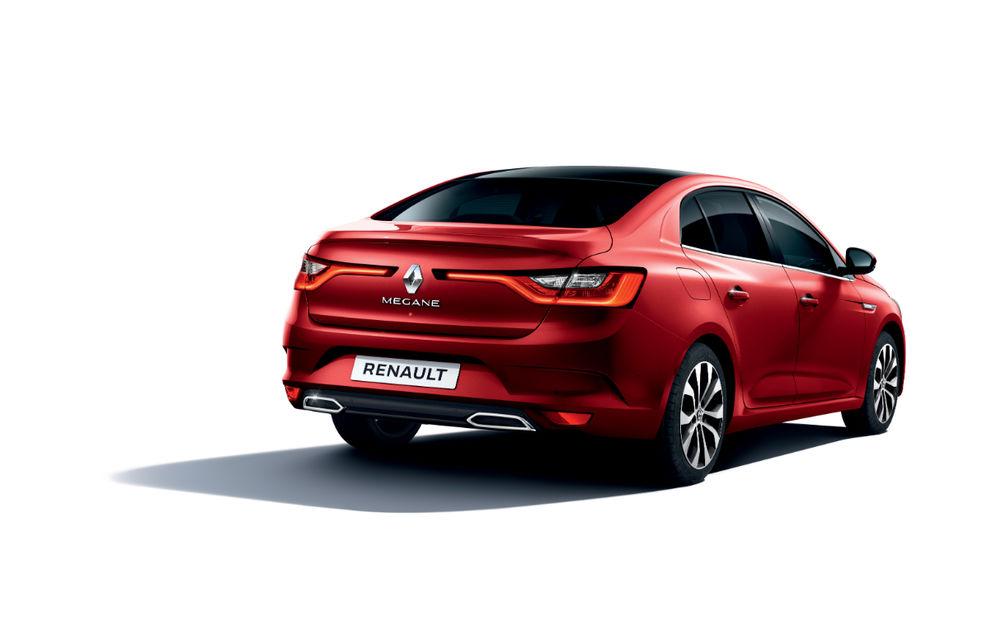 Imagini și informații tehnice cu Renault Megane Sedan facelift: interior îmbunătățit, motorizări diesel și pe benzină și sisteme de asistență - Poza 13