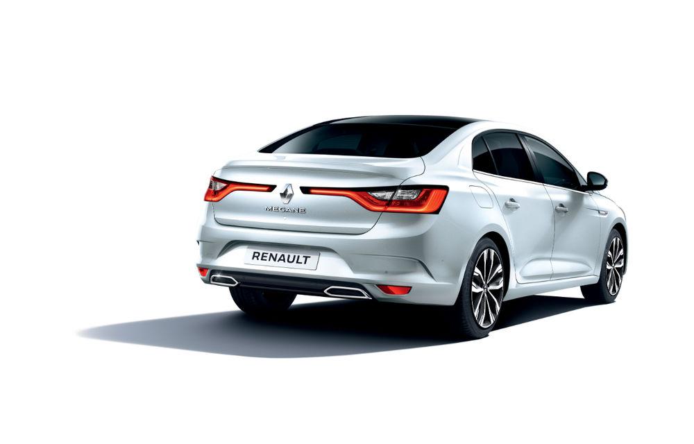 Imagini și informații tehnice cu Renault Megane Sedan facelift: interior îmbunătățit, motorizări diesel și pe benzină și sisteme de asistență - Poza 9