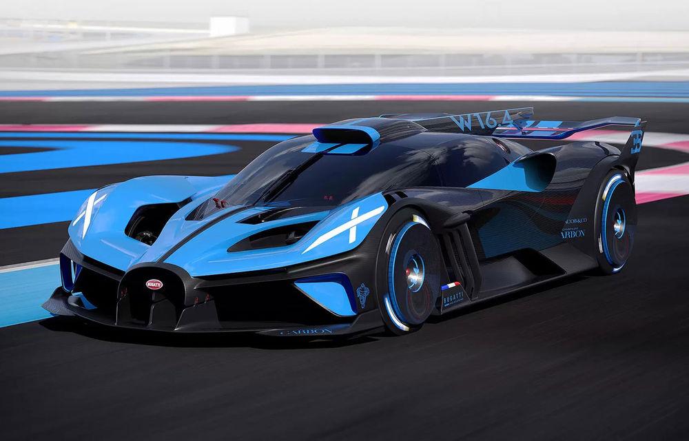 Bugatti Bolide: hypercar-ul unicat are 1850 de cai putere, doar 1240 de kilograme și ajunge la 100 km/h în 2.17 secunde - Poza 1