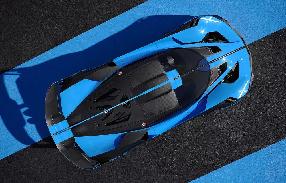 Bugatti Bolide: hypercar-ul unicat are 1850 de cai putere, doar 1240 de kilograme și ajunge la 100 km/h în 2.17 secunde - Poza 2