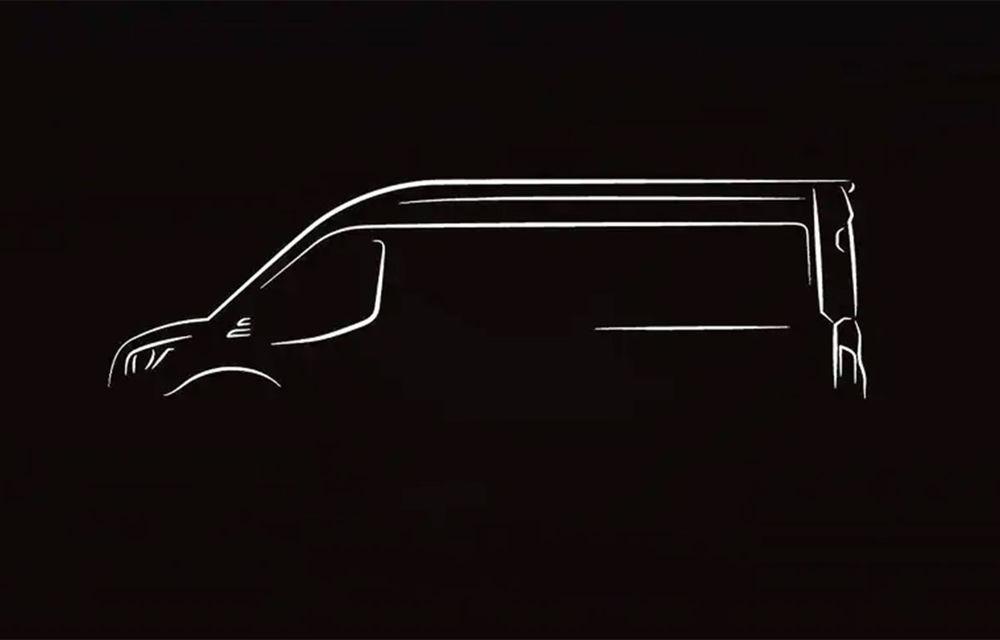 Primul teaser pentru viitoarea versiune electrică a lui Ford Transit: utilitara va fi prezentată în 12 noiembrie - Poza 1