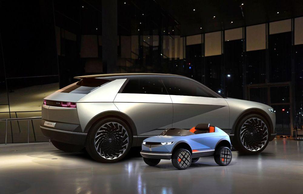 Special pentru cei mici: Hyundai pregătește un model electric de mici dimensiuni cu design inspirat de Concept 45 - Poza 3