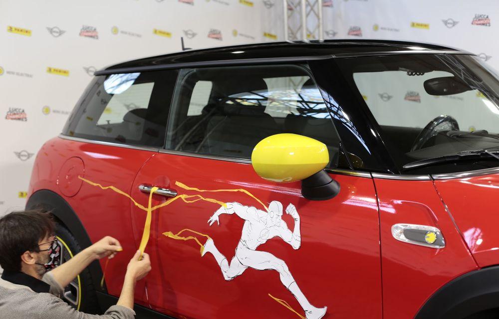 Art Car dezvoltat pe baza actualului Mini electric: modelul britanic îmbracă hainele supereroului The Flash - Poza 2