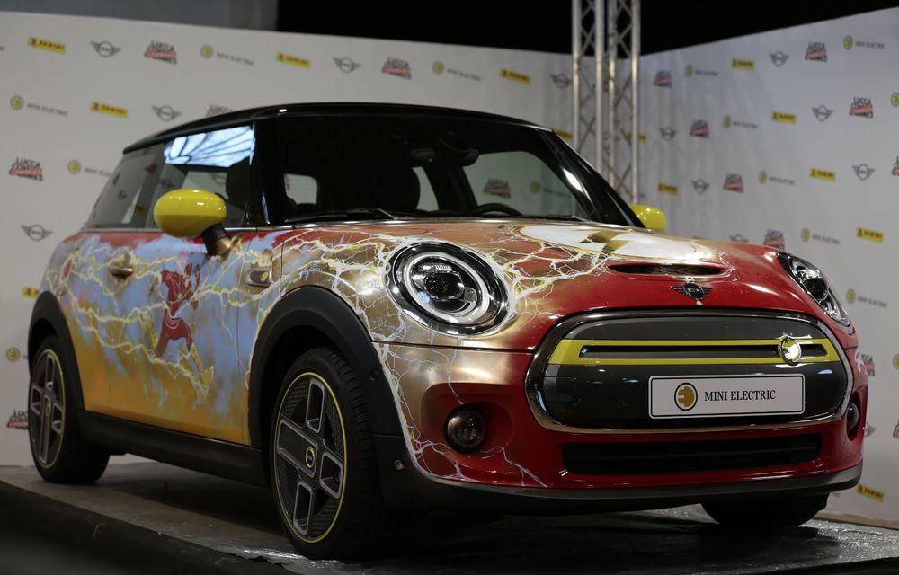 Art Car dezvoltat pe baza actualului Mini electric: modelul britanic îmbracă hainele supereroului The Flash - Poza 27