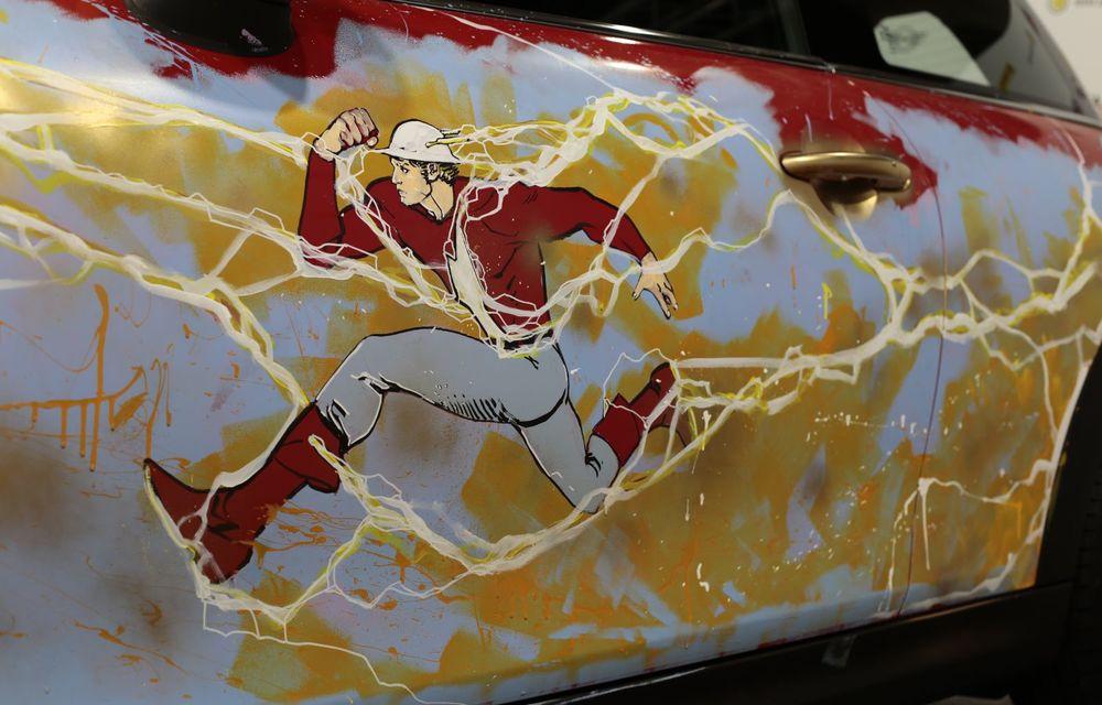 Art Car dezvoltat pe baza actualului Mini electric: modelul britanic îmbracă hainele supereroului The Flash - Poza 22