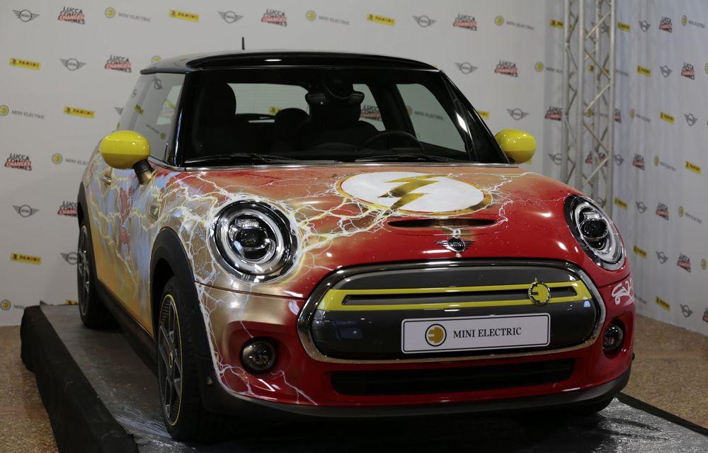 Art Car dezvoltat pe baza actualului Mini electric: modelul britanic îmbracă hainele supereroului The Flash - Poza 29