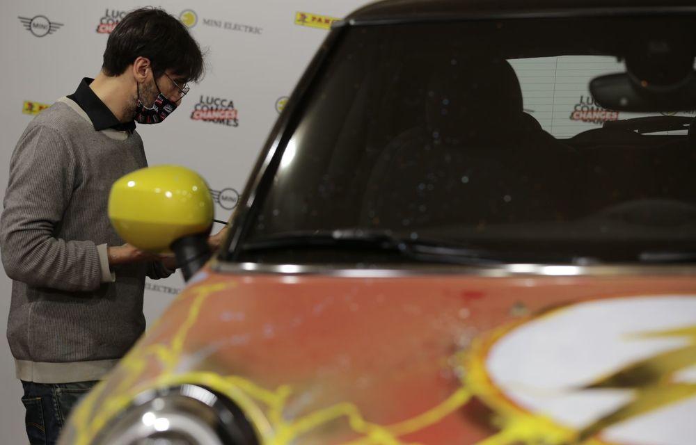Art Car dezvoltat pe baza actualului Mini electric: modelul britanic îmbracă hainele supereroului The Flash - Poza 8